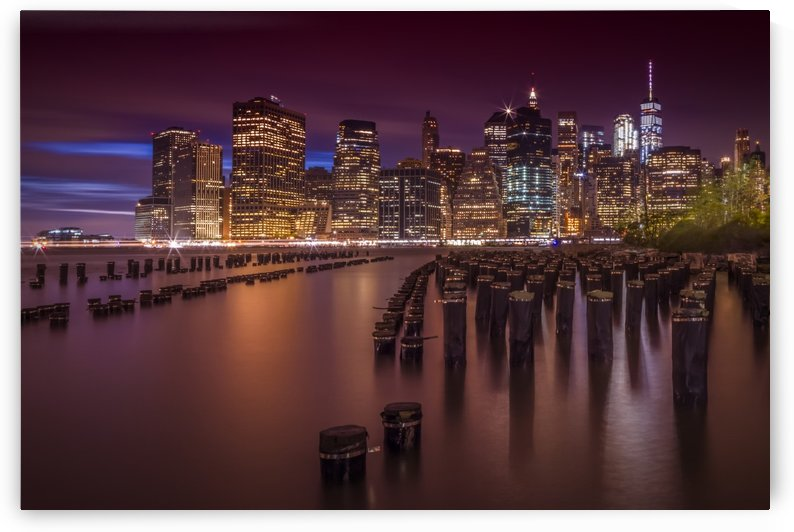 Manhattan Skyline at Sunset  by Melanie Viola