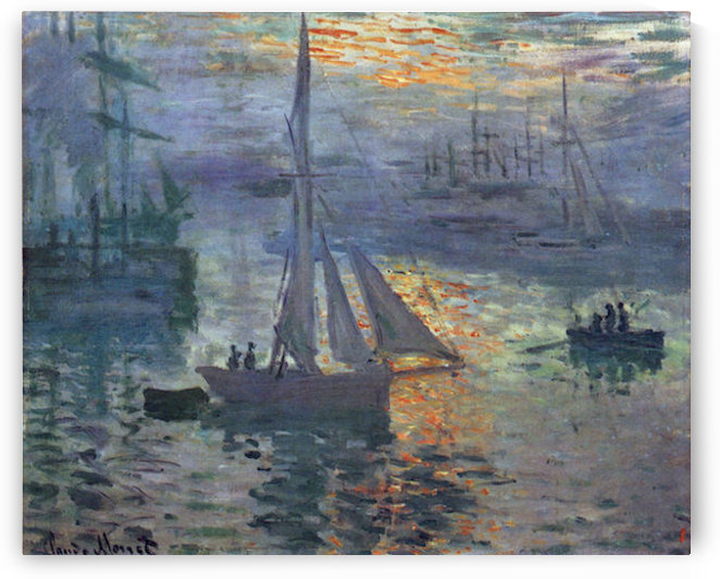 Sunrise at Sea by Monet by Monet