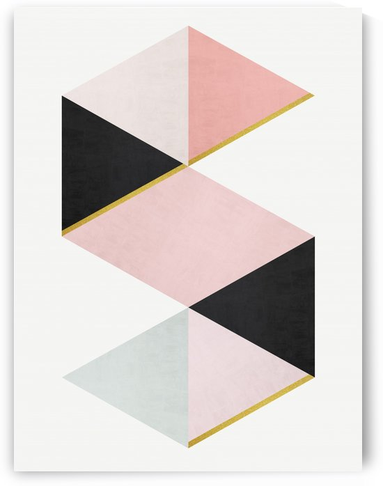 Minimalist and golden pattern I by Vitor Costa