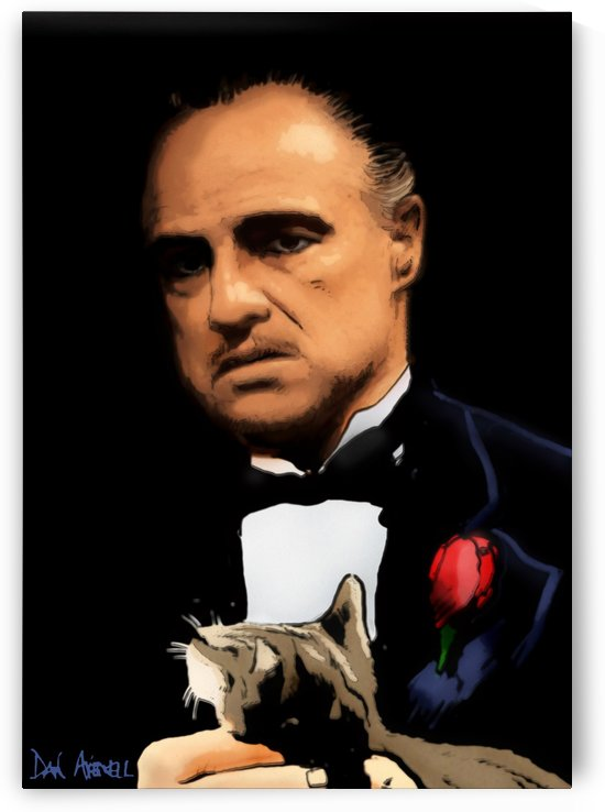 Marlon Brando - The Godfather by Dan  Avenell
