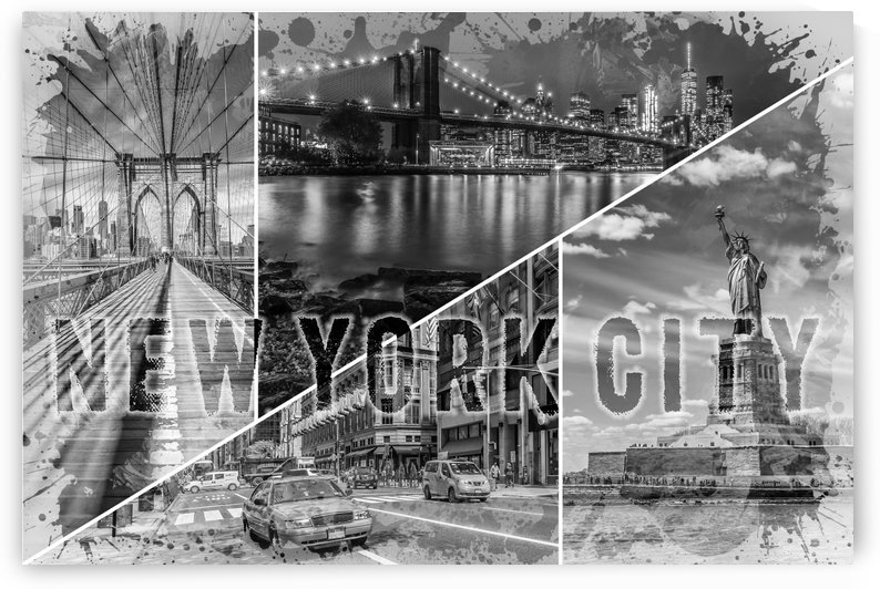 NEW YORK CITY Urban Collage No. 2 by Melanie Viola