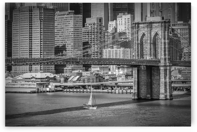 NEW YORK CITY Brooklyn Bridge & Manhattan Skyline by Melanie Viola