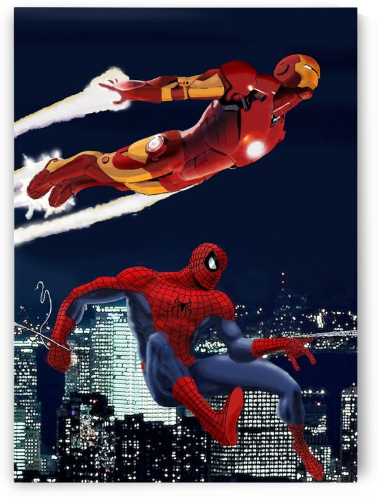 Marvel: Iron Man & Spider-Man by Dan  Avenell