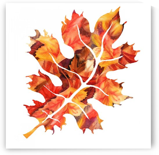 Autumn Oak Leaf by Irina Sztukowski