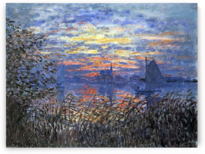 Sunset on the Seine by Monet by Monet