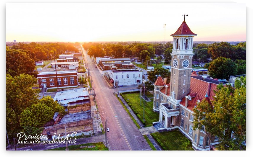 Clarendon, AR | Monroe County Courthouse by Provision UAS