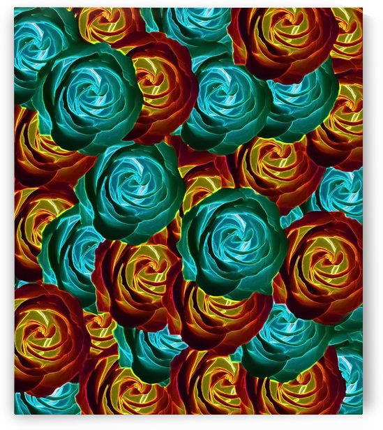 rose texture pattern abstract background in green red and yellow by TimmyLA