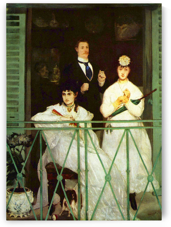 The Balcony by Manet by Manet