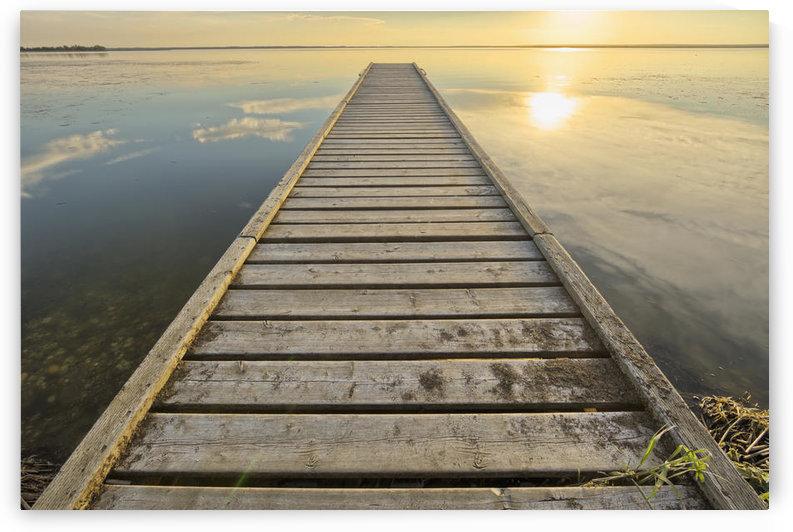 Wharf, Queen Elizabeth Provincial Park; Alberta, Canada by PacificStock