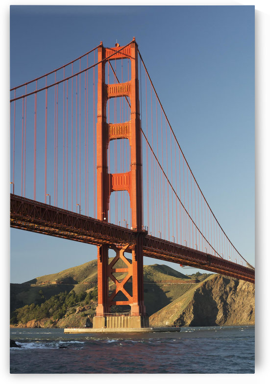 Golden Gate Bridge from Fort Point at the entrance to San Francisco Bay, Marin Headlands visible in background; San Francisco, California, United States of America by PacificStock