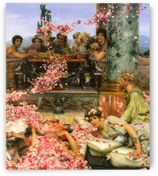 The roses of Heliogabalus detail 2 by Alma-Tadema by Alma-Tadema