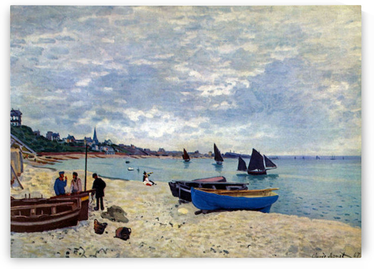 The Beach at Sainte Adresse #2 by Monet by Monet