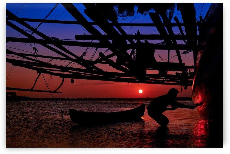 Golden Sunset & Indonesian Fisherman by Travenesia