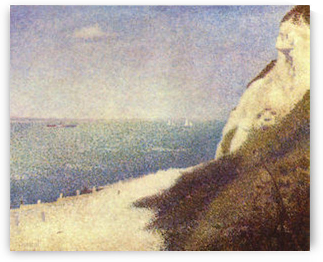 The beach in Honfleur by Seurat by Seurat
