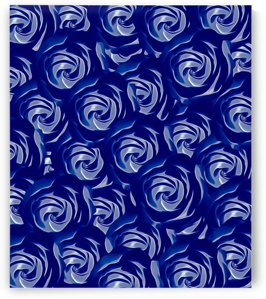 blooming blue rose pattern texture abstract background by TimmyLA