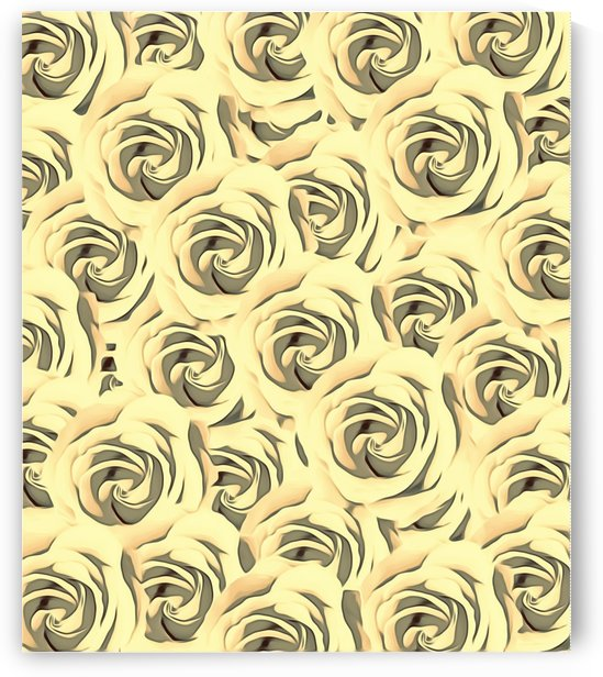 blooming yellow rose pattern texture abstract background by TimmyLA