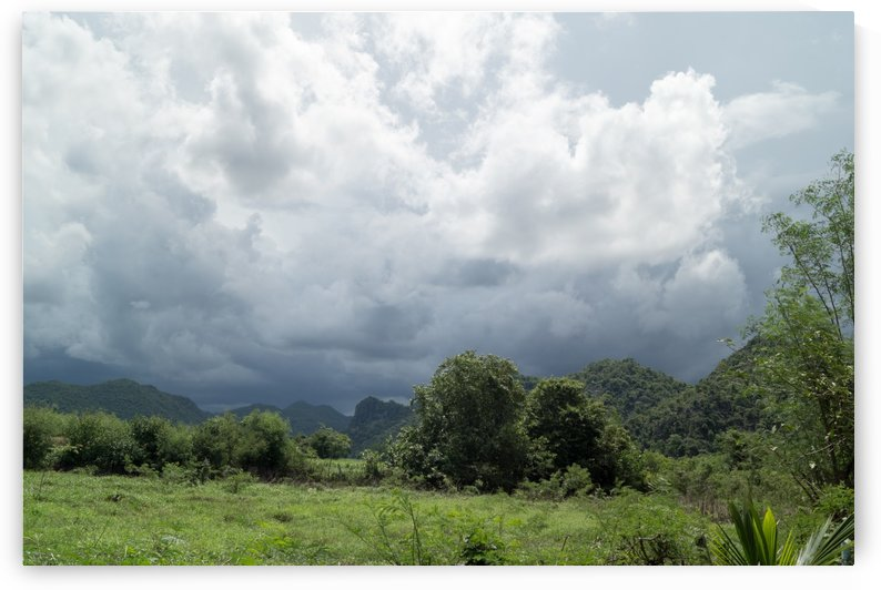 sweeping monsoon - view into the landscape by Babetts Bildergalerie