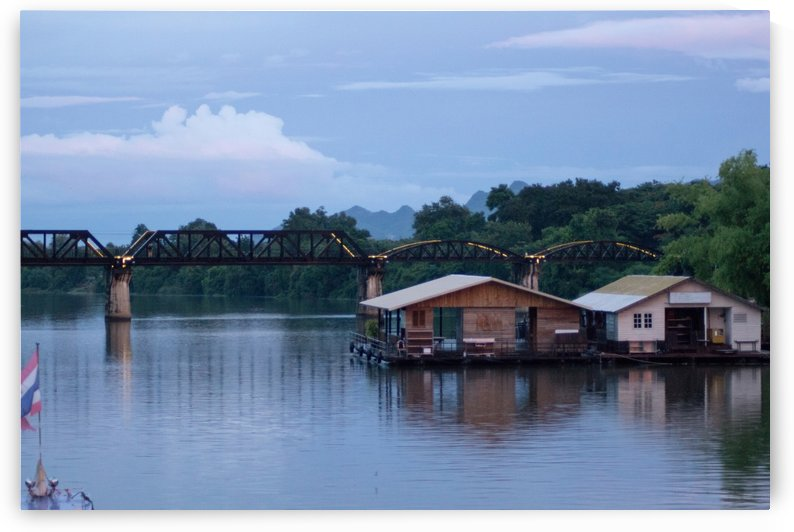 Boat trip on the river Kwai with sunset by Babetts Bildergalerie