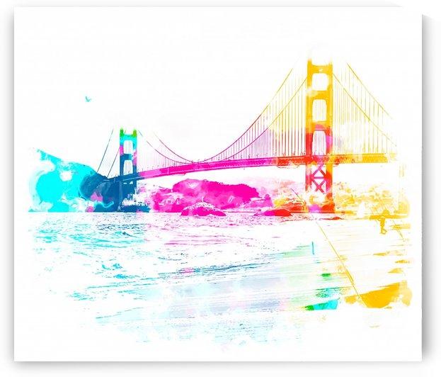 Golden Gate bridge, San Francisco, USA with beach view by TimmyLA