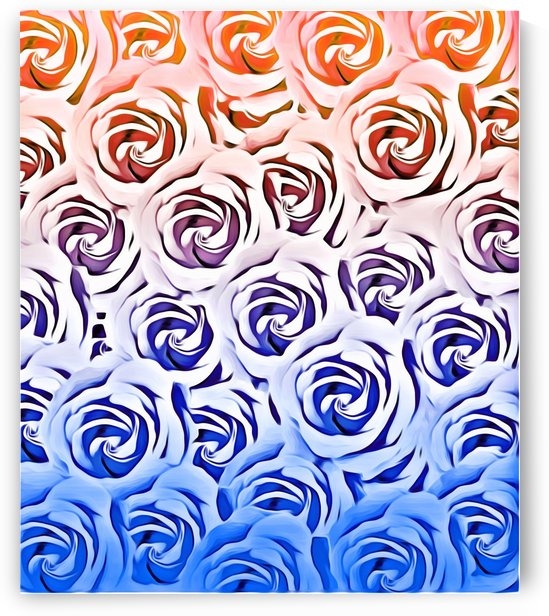 rose pattern texture abstract background in pink and blue by TimmyLA
