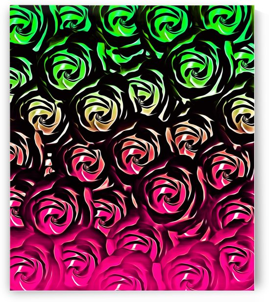 rose pattern texture abstract background in pink and green by TimmyLA