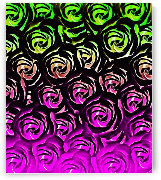 rose pattern texture abstract background in green and pink by TimmyLA