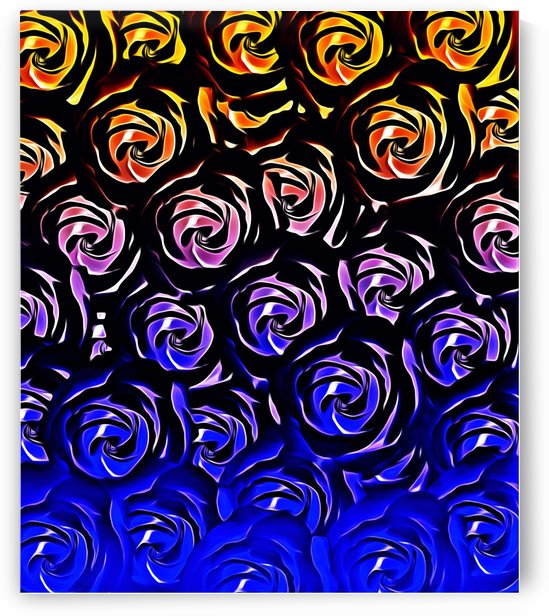 rose pattern texture abstract background in blue and red by TimmyLA