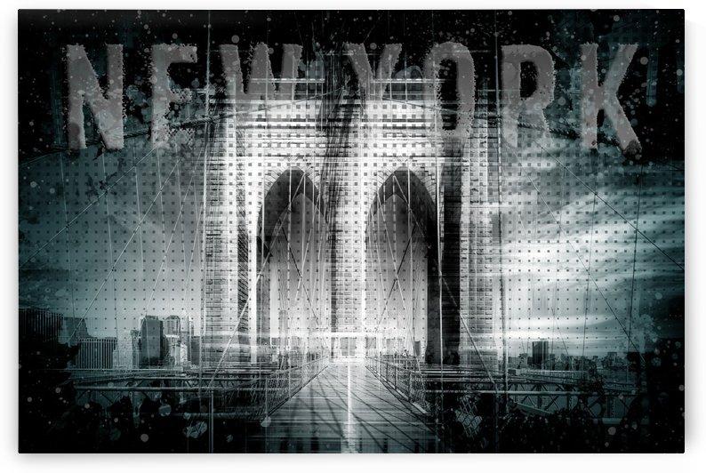 City Art Brooklyn Bridge in Detail | cyan by Melanie Viola