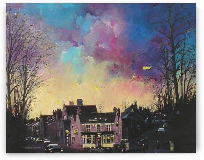 Winter Sunset Ranmoor Inn by janglebumming