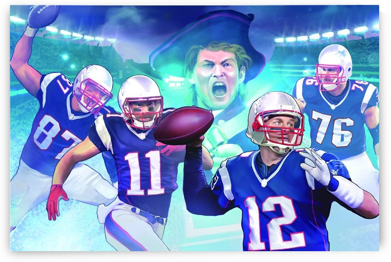 PATRIOTS Football by Football Art