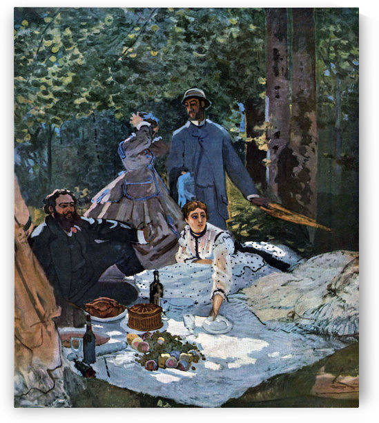 The breakfast outdoors, central section by Monet by Monet