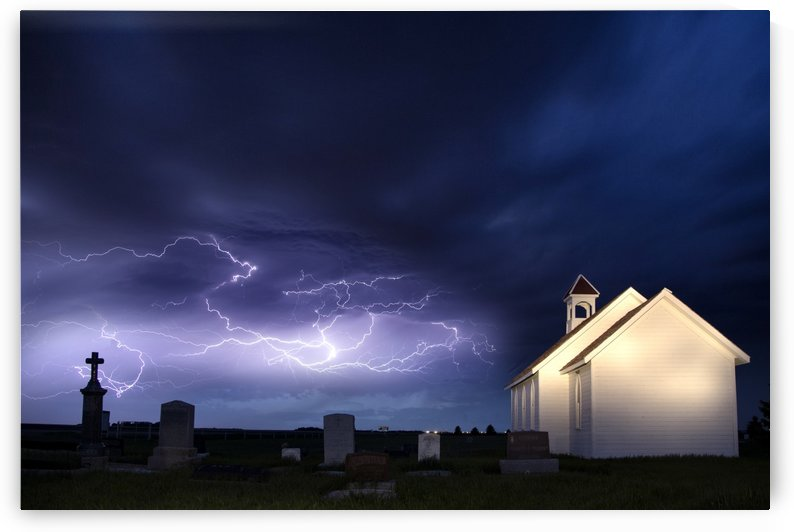 Lightning Prairie Church by Mark Duffy