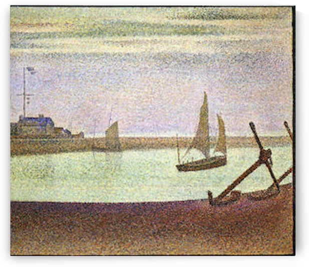 The canal at Gravelines by Seurat by Seurat