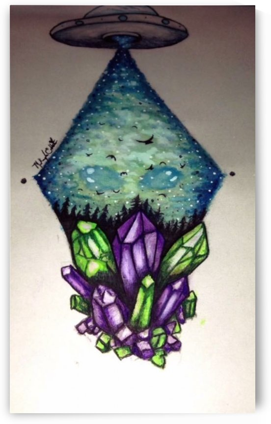 Crystals and Aliens by Makayla Ellis