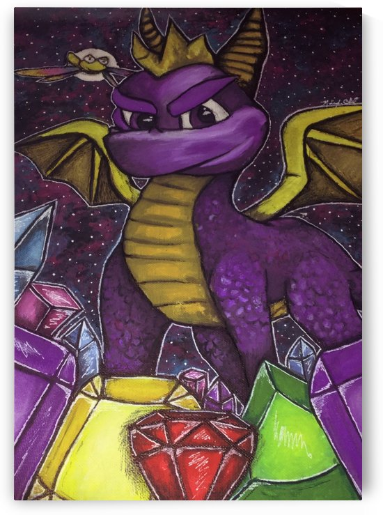 Spyro and Sparx by Makayla Ellis