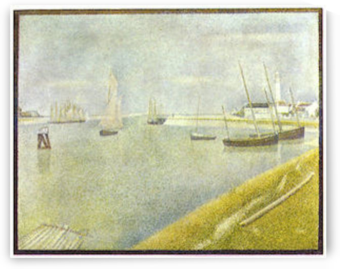 The channel of Gravelines by Seurat by Seurat