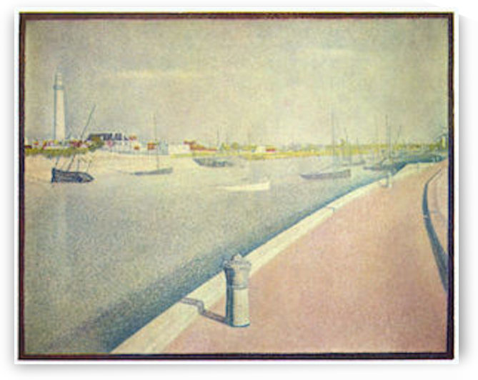 The channel of Gravelines, Petit-Fort-Philippe by Seurat by Seurat