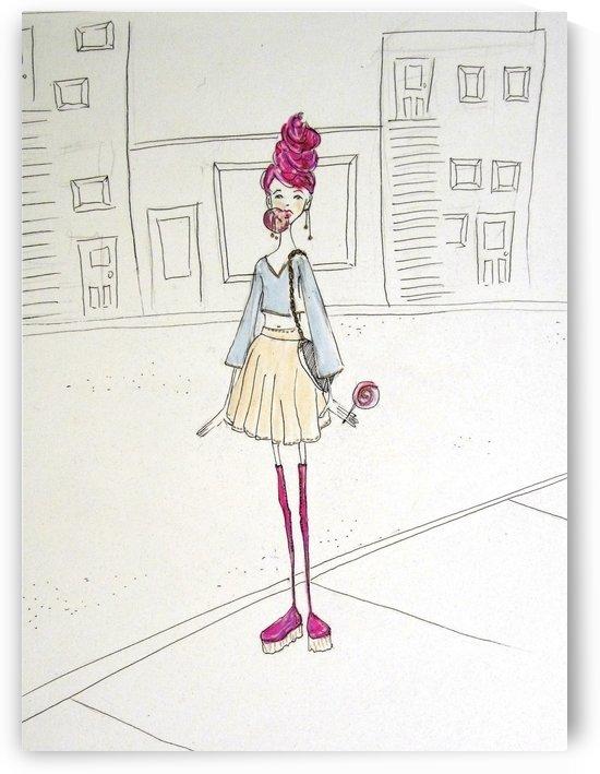bubble gum girl by Madeleine Sibthorpe