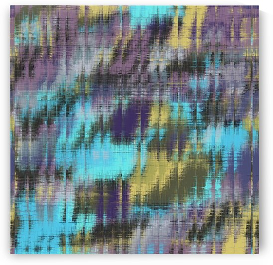 psychedelic geometric abstract pattern in blue yellow purple by TimmyLA