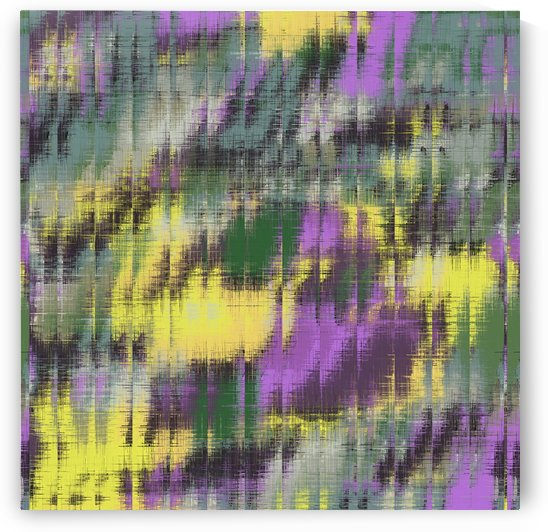 psychedelic geometric abstract pattern in green yellow purple by TimmyLA