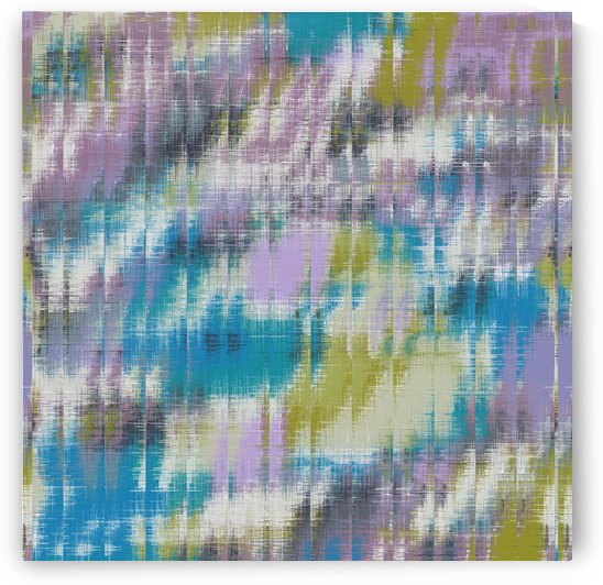 psychedelic geometric abstract pattern in blue green purple by TimmyLA
