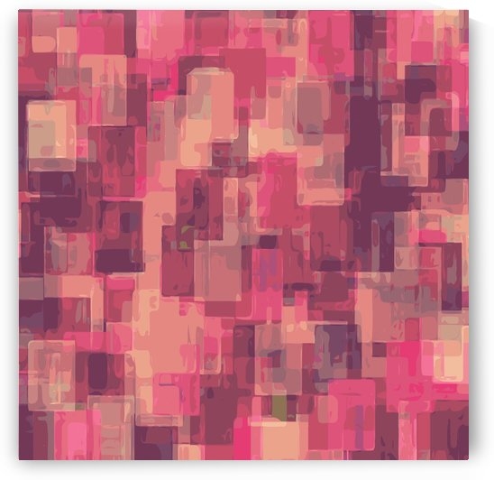 psychedelic geometric square pattern abstract in pink and purple by TimmyLA
