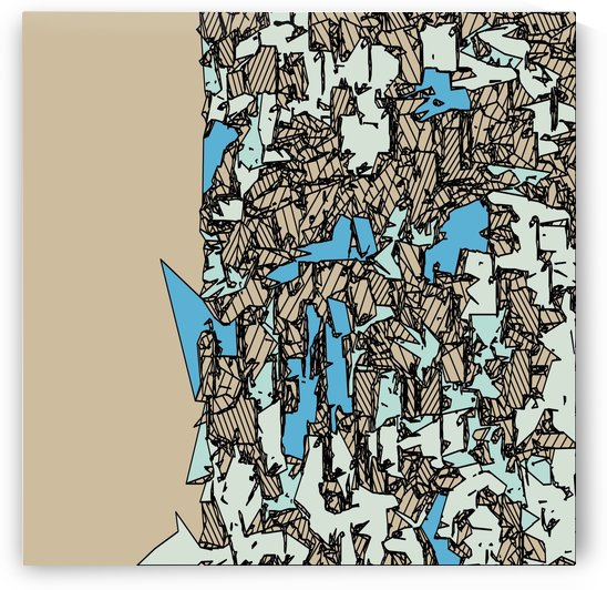 drawing and sketching abstract in blue with brown background by TimmyLA