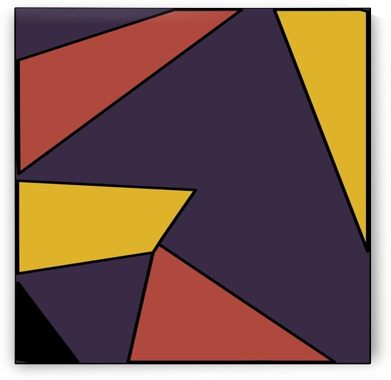 geometric pattern abstract background in red blue and yellow by TimmyLA