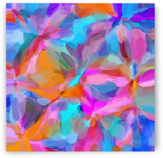 circle pattern abstract background in pink orange and blue by TimmyLA