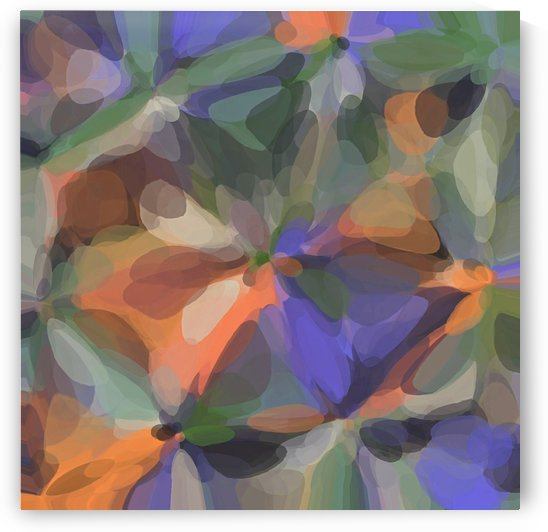 circle pattern abstract background in green orange purple by TimmyLA