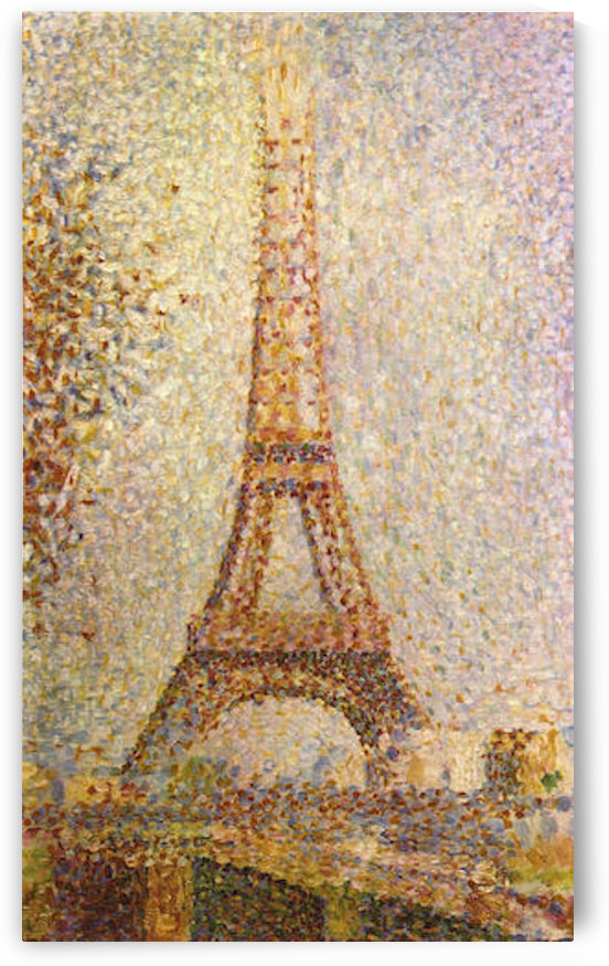 The Eiffel Tower by Seurat by Seurat