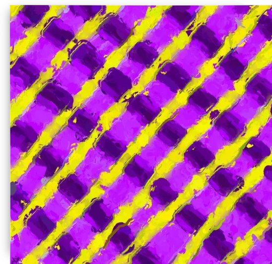line pattern painting abstract background in purple and yellow by TimmyLA