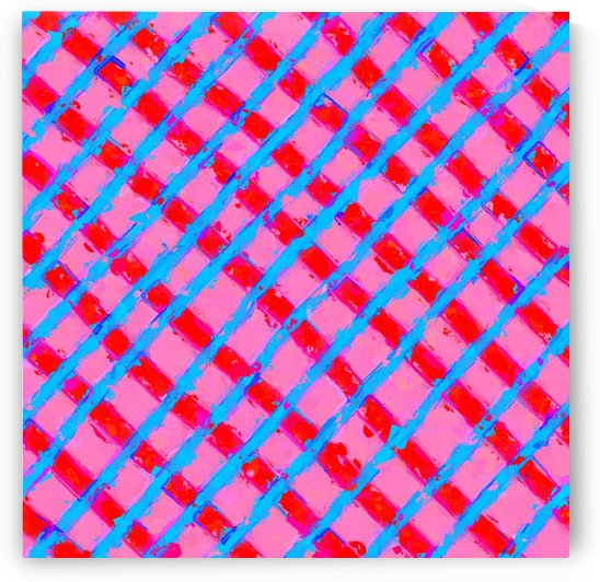 line pattern painting abstract background in pink red blue by TimmyLA