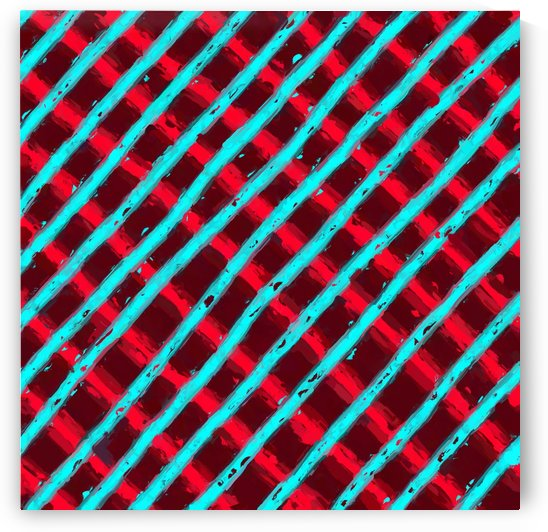 line pattern painting abstract background in red and blue by TimmyLA